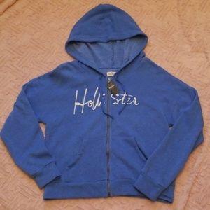 NWT Hollister zip up hoodie sz med